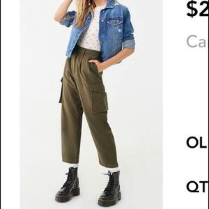 Cargo straight-let pants